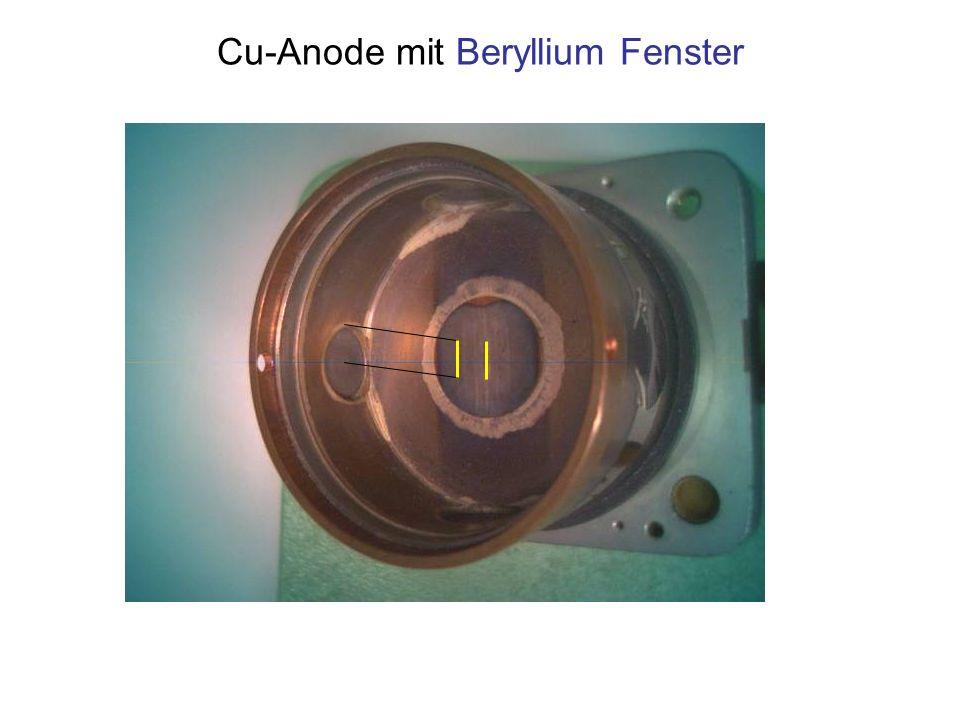 Cu-Anode mit Beryllium Fenster