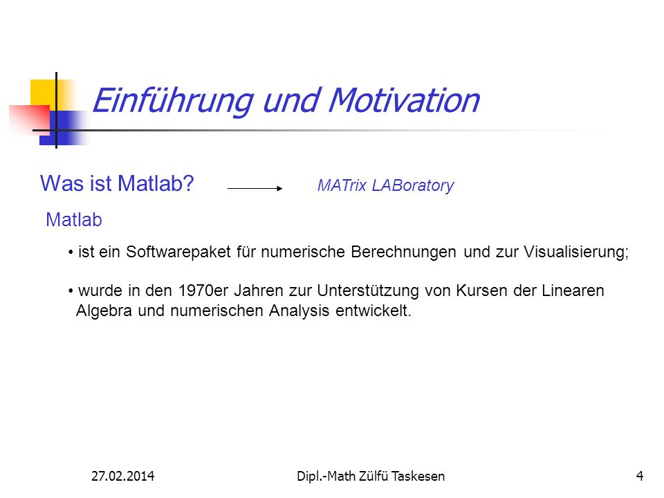 Einführung und Motivation