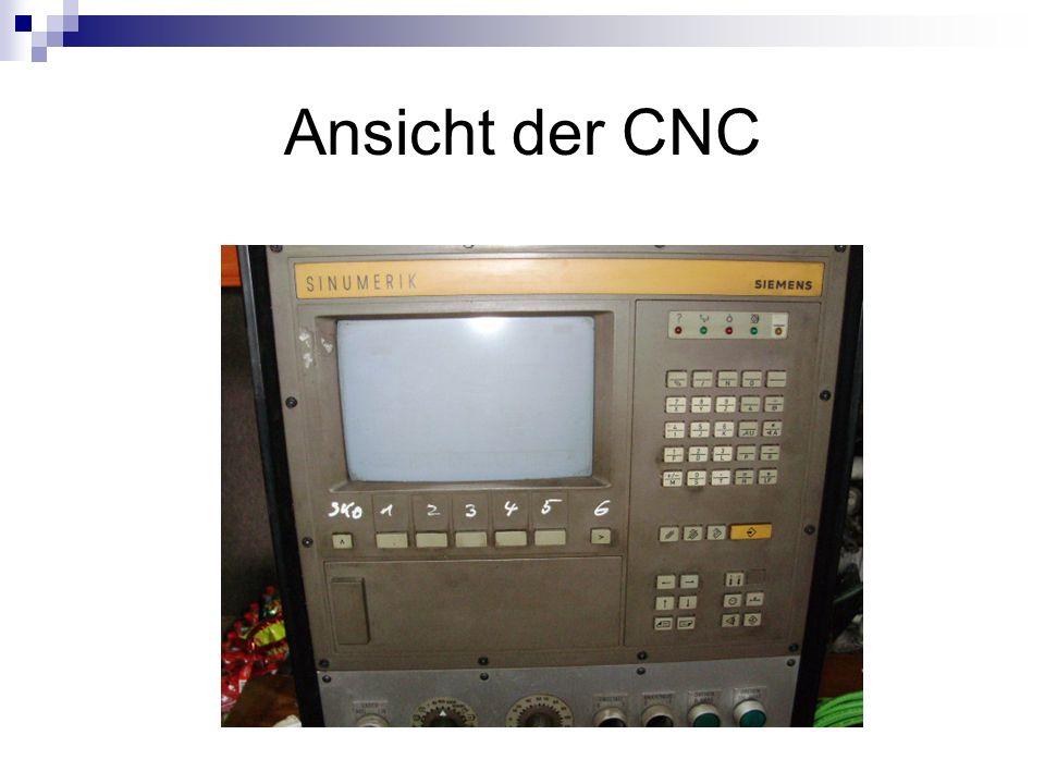 Ansicht der CNC