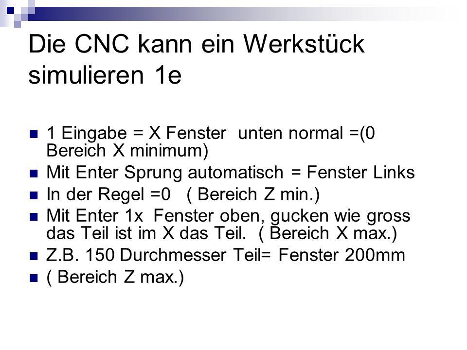 Die CNC kann ein Werkstück simulieren 1e