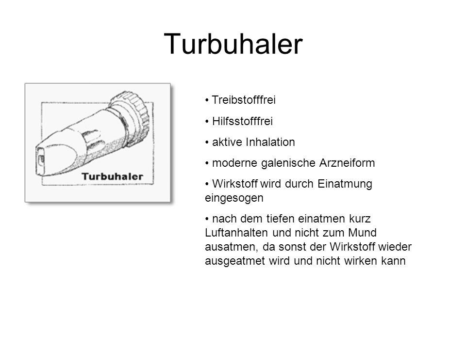 Turbuhaler Treibstofffrei Hilfsstofffrei aktive Inhalation