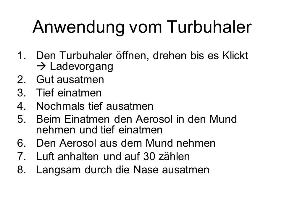 Anwendung vom Turbuhaler