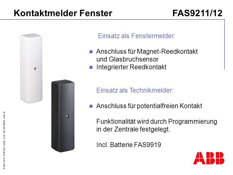 Kontaktmelder Fenster FAS9211/12