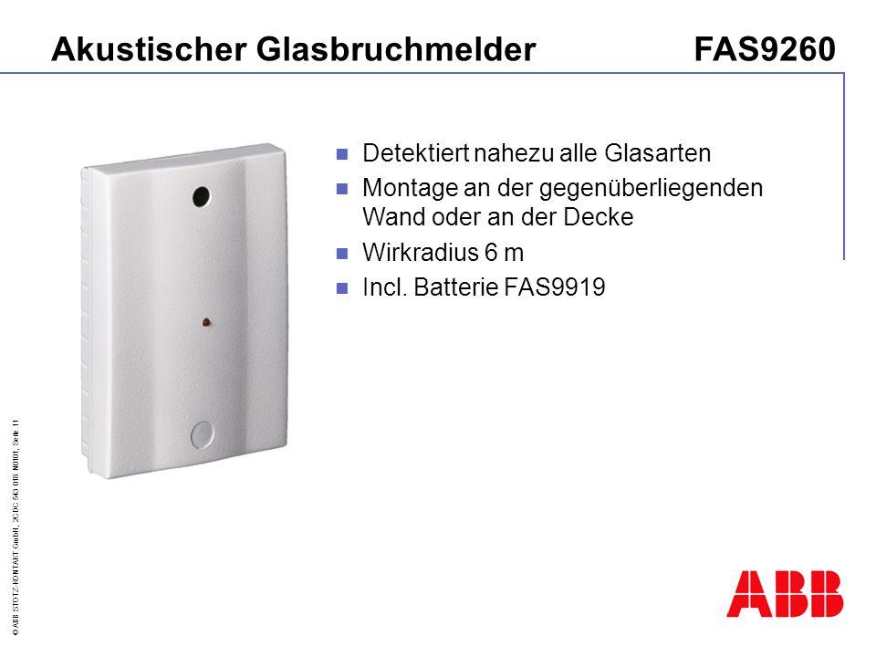 Akustischer Glasbruchmelder FAS9260
