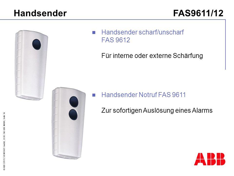 Handsender FAS9611/12 Handsender scharf/unscharf FAS 9612