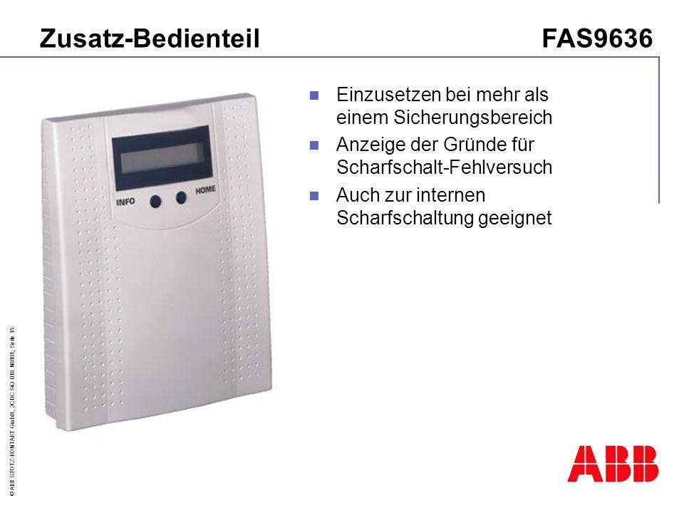 Zusatz-Bedienteil FAS9636
