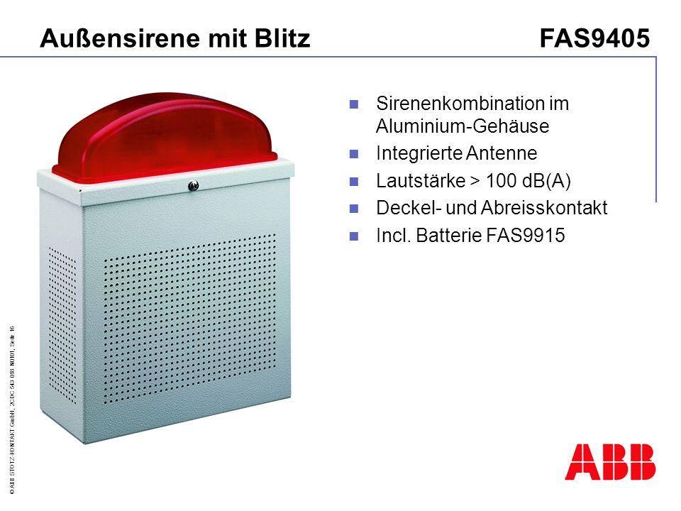 Außensirene mit Blitz FAS9405