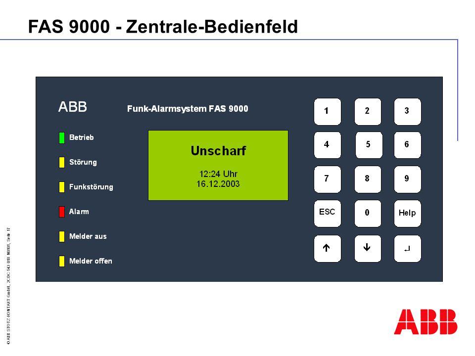 FAS 9000 - Zentrale-Bedienfeld