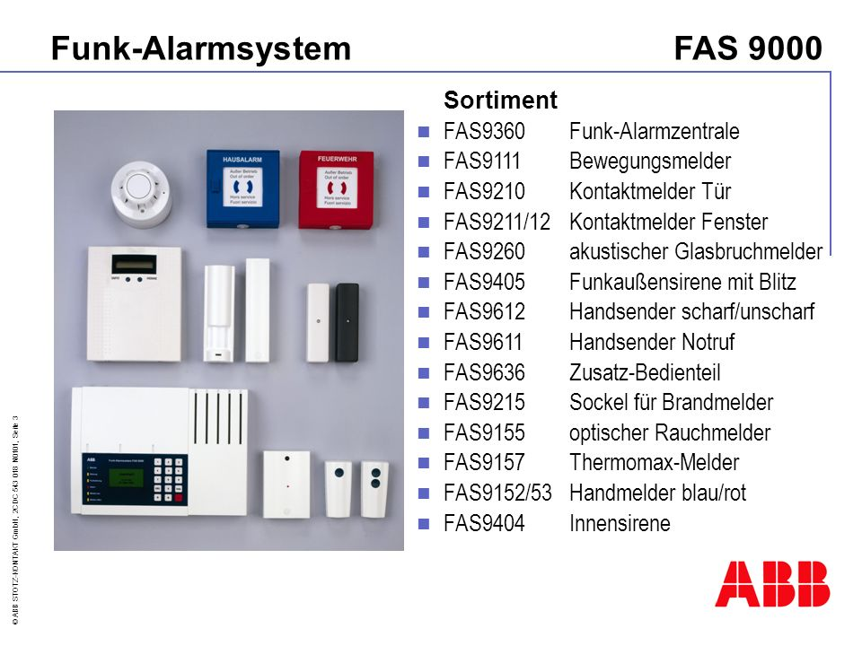 Funk-Alarmsystem FAS 9000 Sortiment FAS9360 Funk-Alarmzentrale