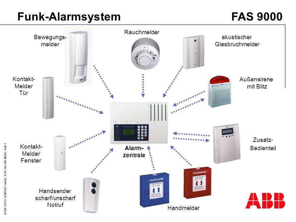 Funk-Alarmsystem FAS 9000 Rauchmelder Bewegungs- melder akustischer