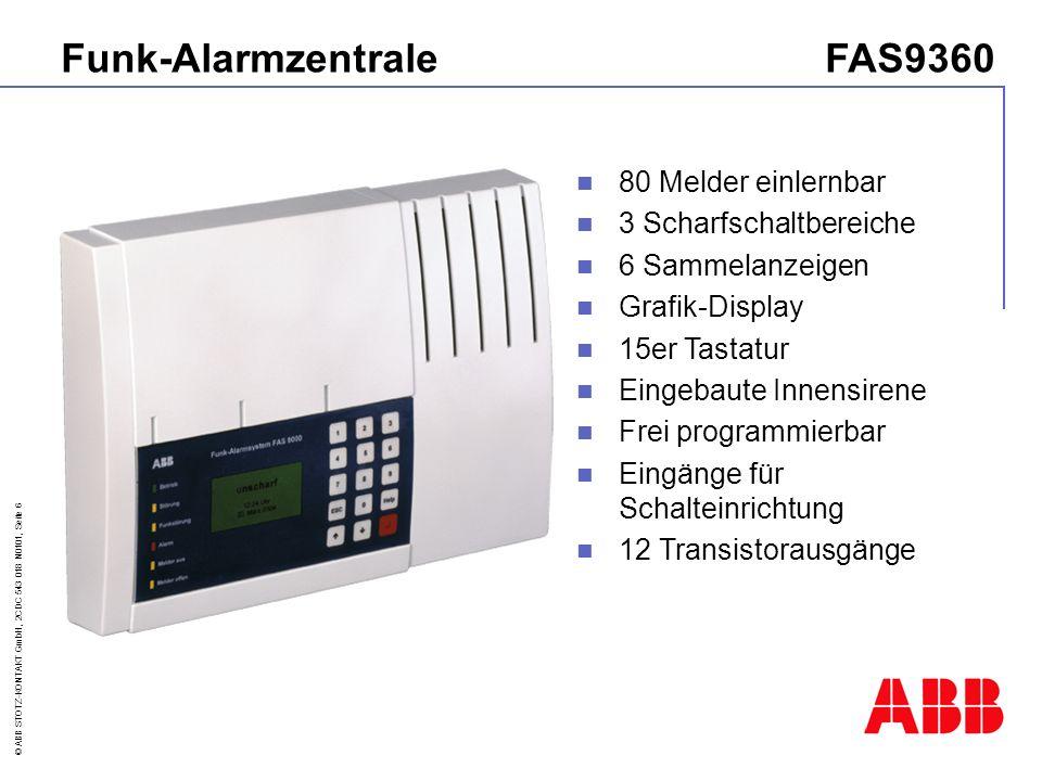 Funk-Alarmzentrale FAS9360