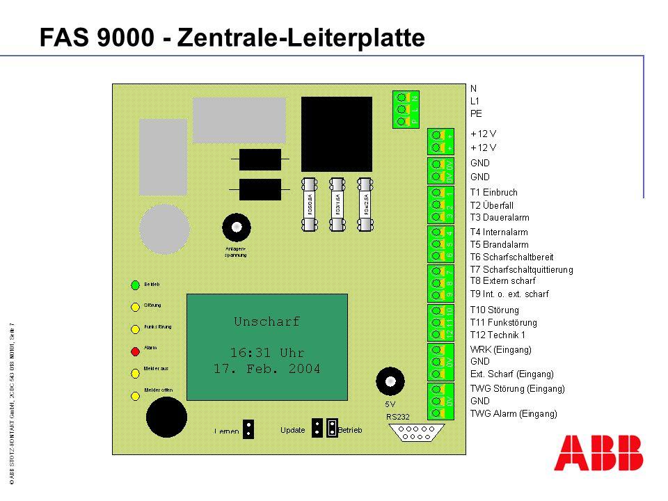 FAS 9000 - Zentrale-Leiterplatte