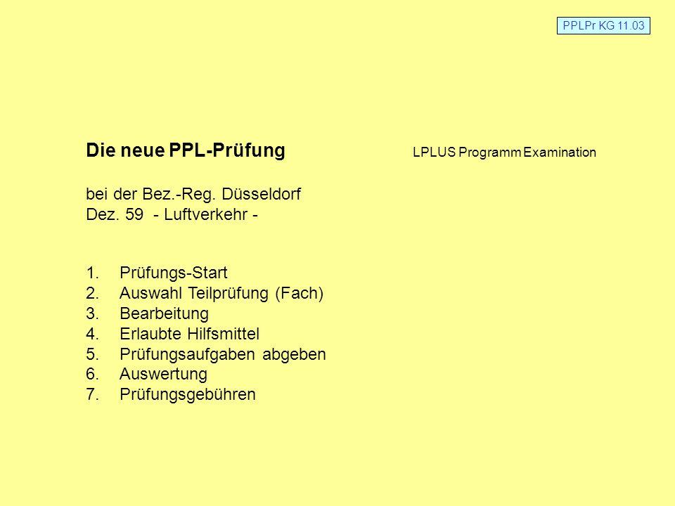 Die neue PPL-Prüfung LPLUS Programm Examination
