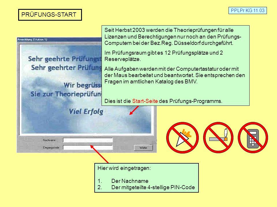 PPLPr KG 11.03 PRÜFUNGS-START.