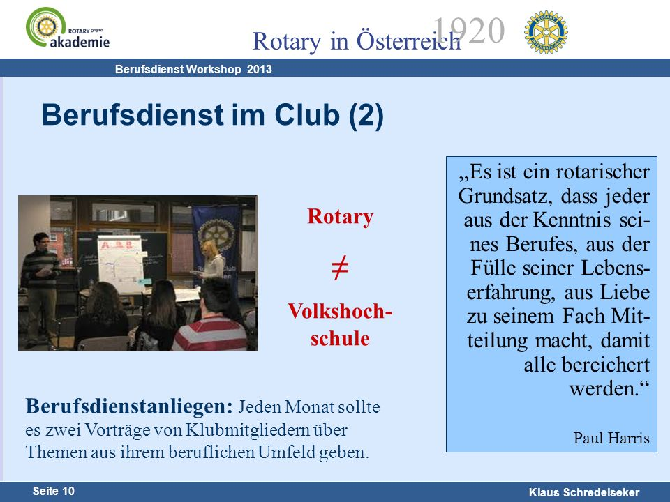 Berufsdienst im Club (2)