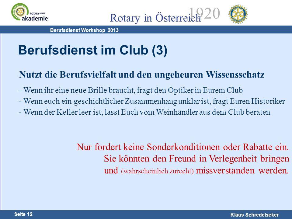 Berufsdienst im Club (3)