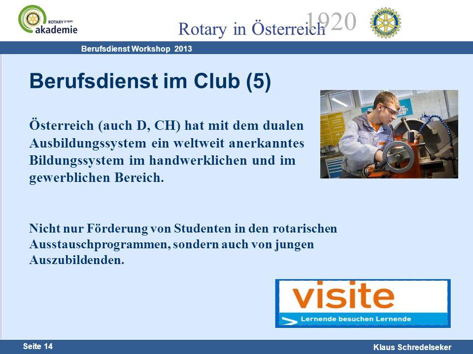 Berufsdienst im Club (5)