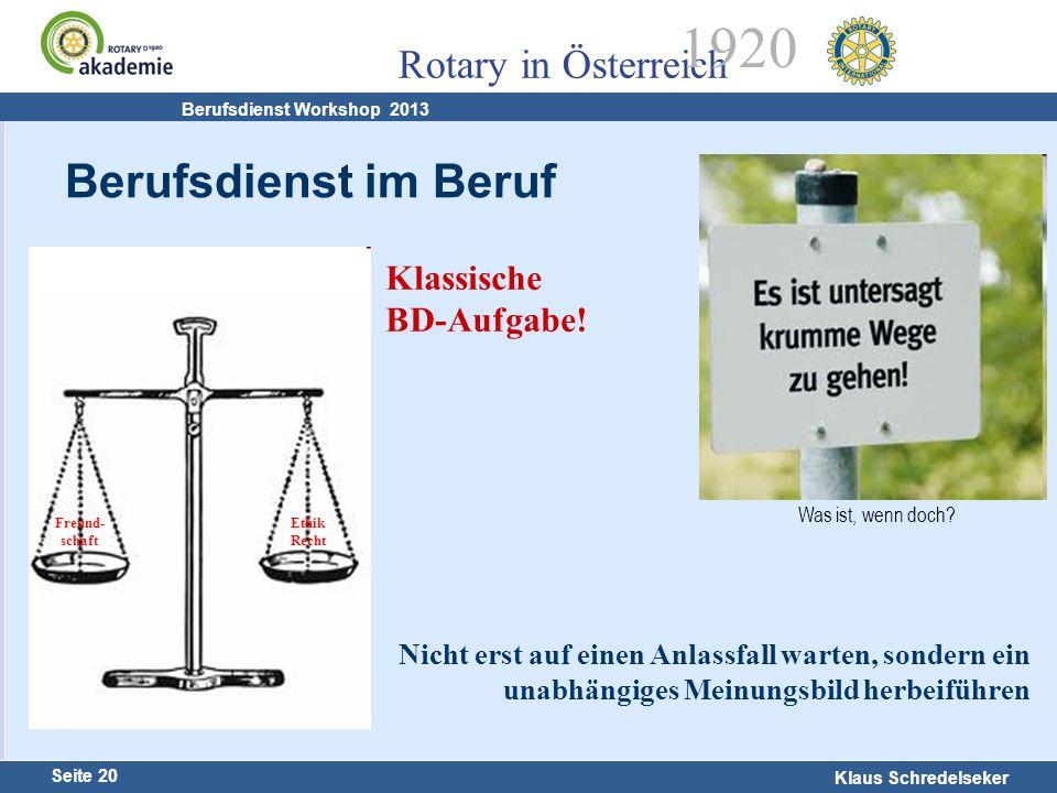 Berufsdienst im Beruf Klassische BD-Aufgabe!