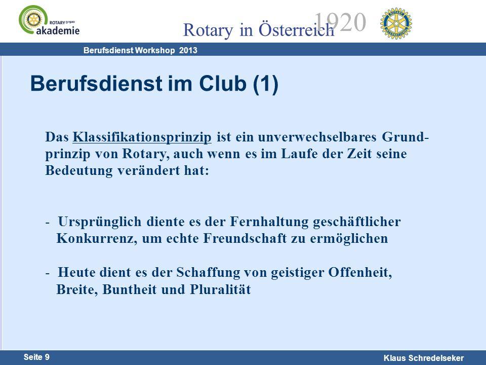 Berufsdienst im Club (1)