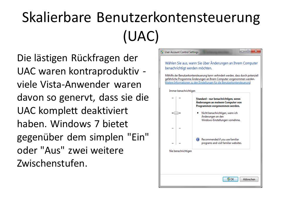 Skalierbare Benutzerkontensteuerung (UAC)
