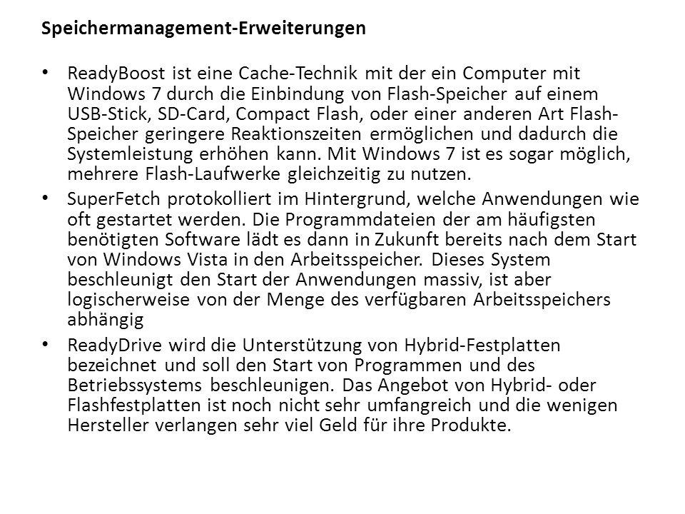 Speichermanagement-Erweiterungen