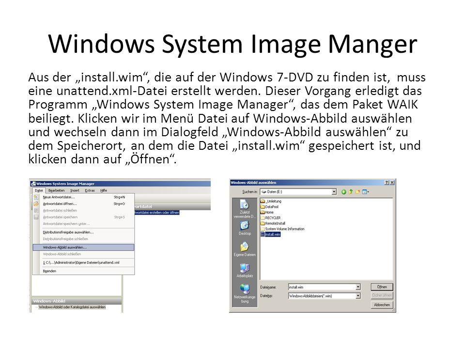 Windows System Image Manger