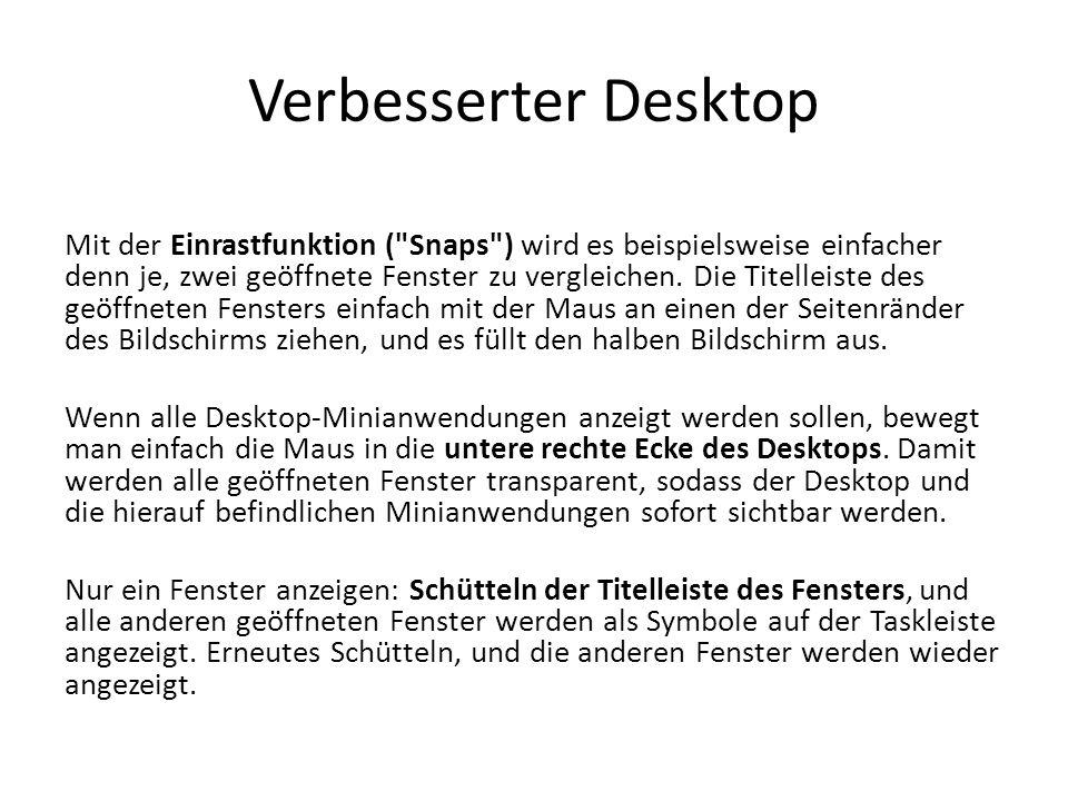 Verbesserter Desktop