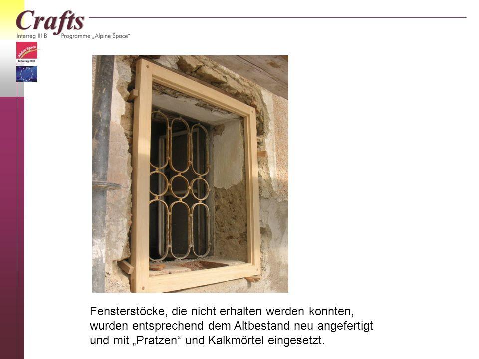 Fensterstöcke, die nicht erhalten werden konnten,
