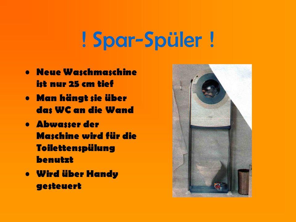 ! Spar-Spüler ! Neue Waschmaschine ist nur 25 cm tief