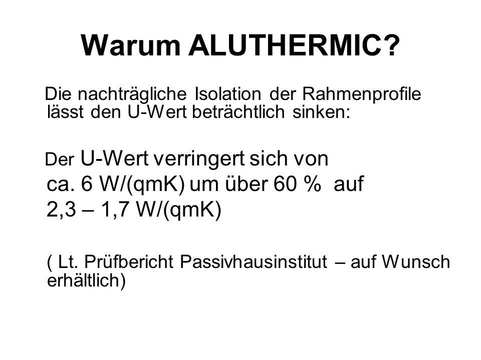 Warum ALUTHERMIC ca. 6 W/(qmK) um über 60 % auf 2,3 – 1,7 W/(qmK)