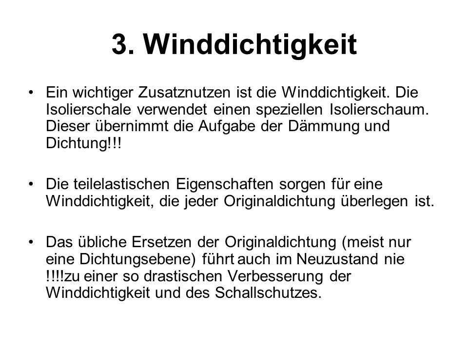 3. Winddichtigkeit