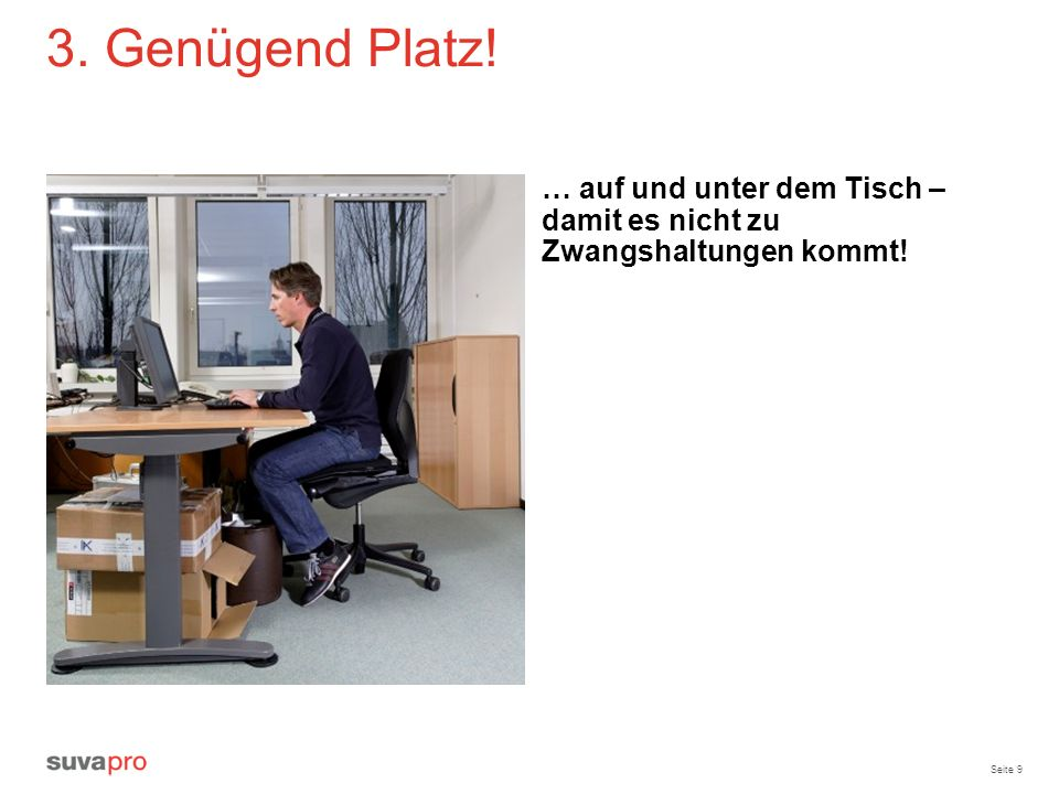 ergonomie am bildschirmarbeitsplatz ppt video online herunterladen. Black Bedroom Furniture Sets. Home Design Ideas