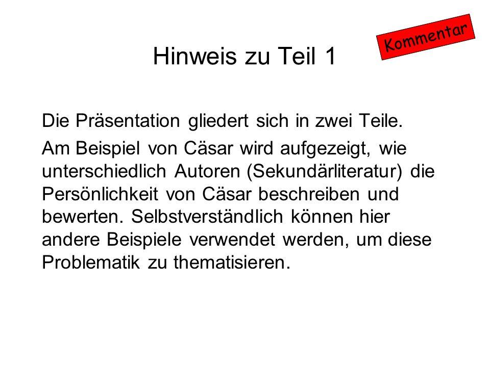 Hinweis zu Teil 1 Die Präsentation gliedert sich in zwei Teile.