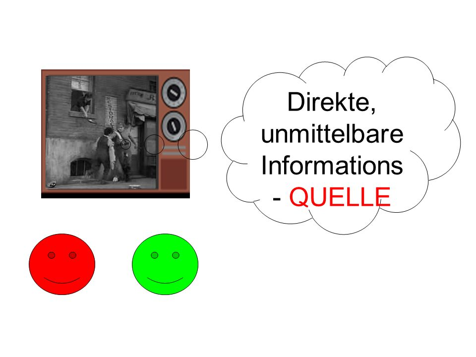 Direkte, unmittelbare Informations- QUELLE