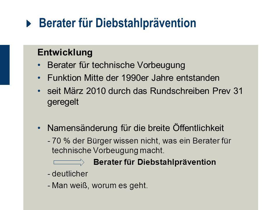 Berater für Diebstahlprävention