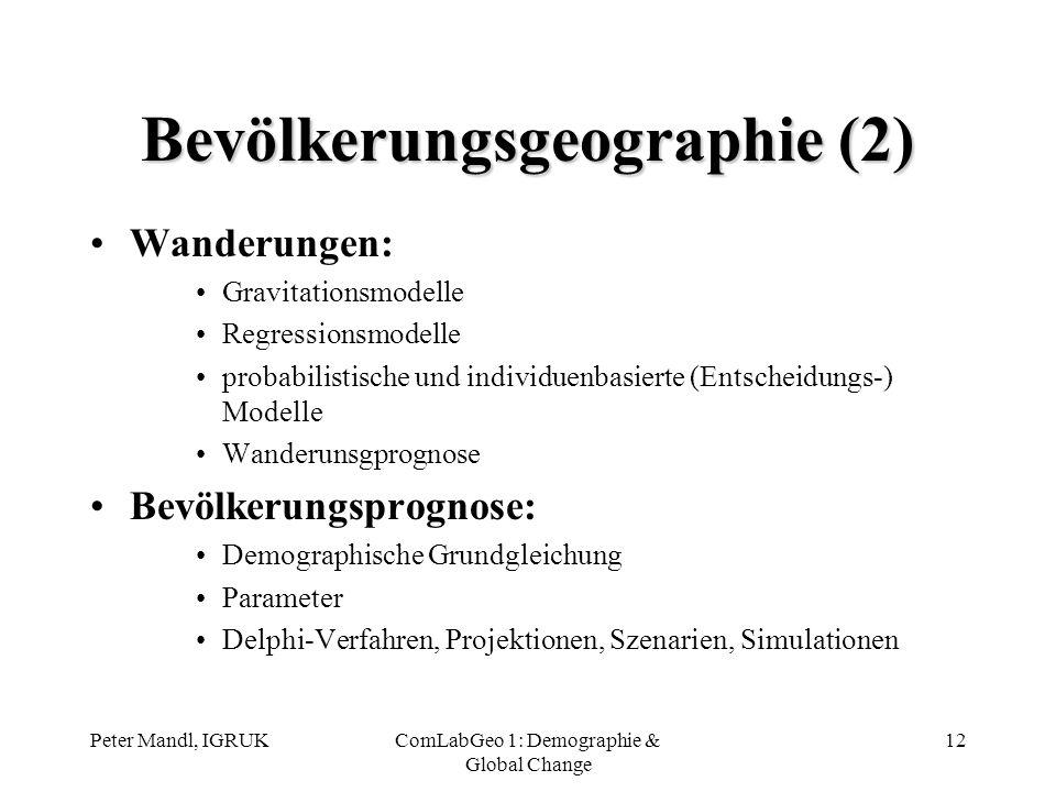 Bevölkerungsgeographie (2)