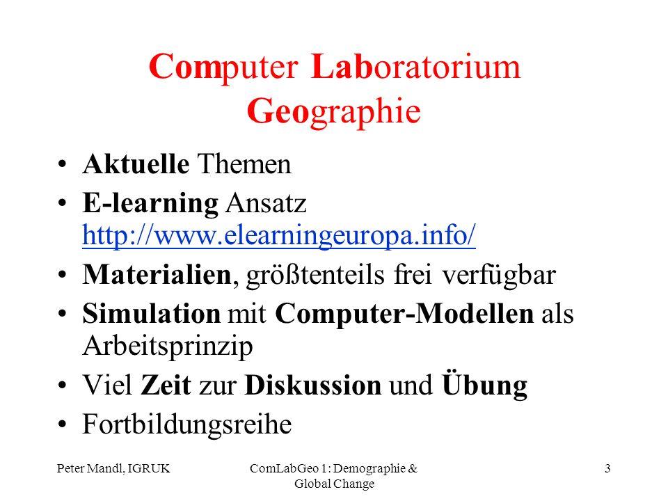 Computer Laboratorium Geographie