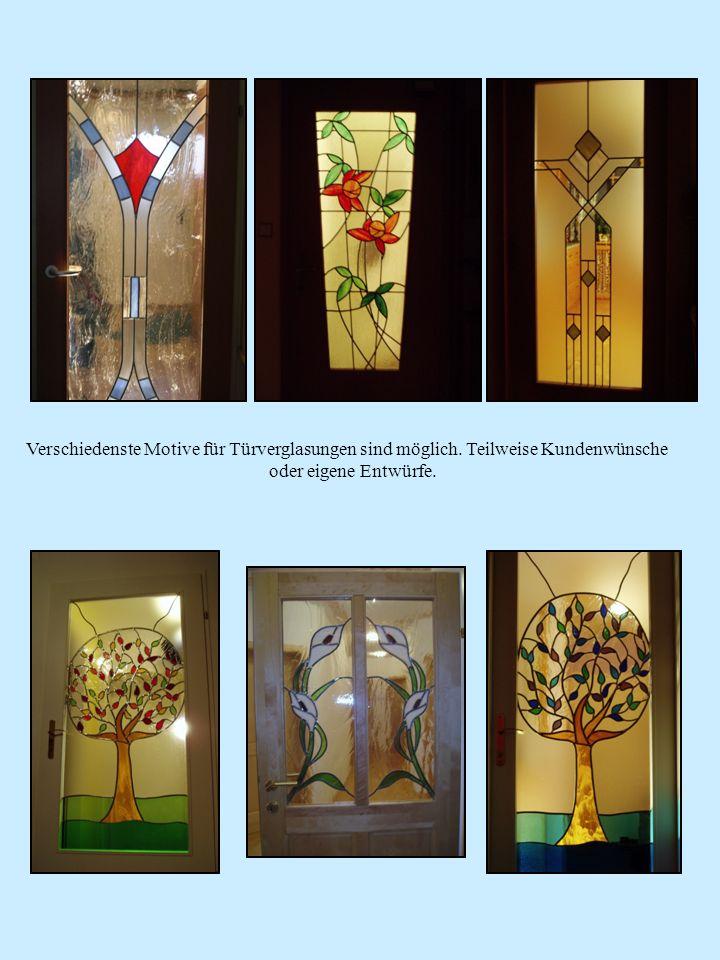 Verschiedenste Motive für Türverglasungen sind möglich