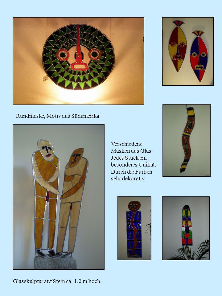 Rundmaske, Motiv aus Südamerika