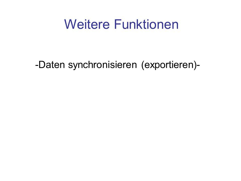 -Daten synchronisieren (exportieren)-