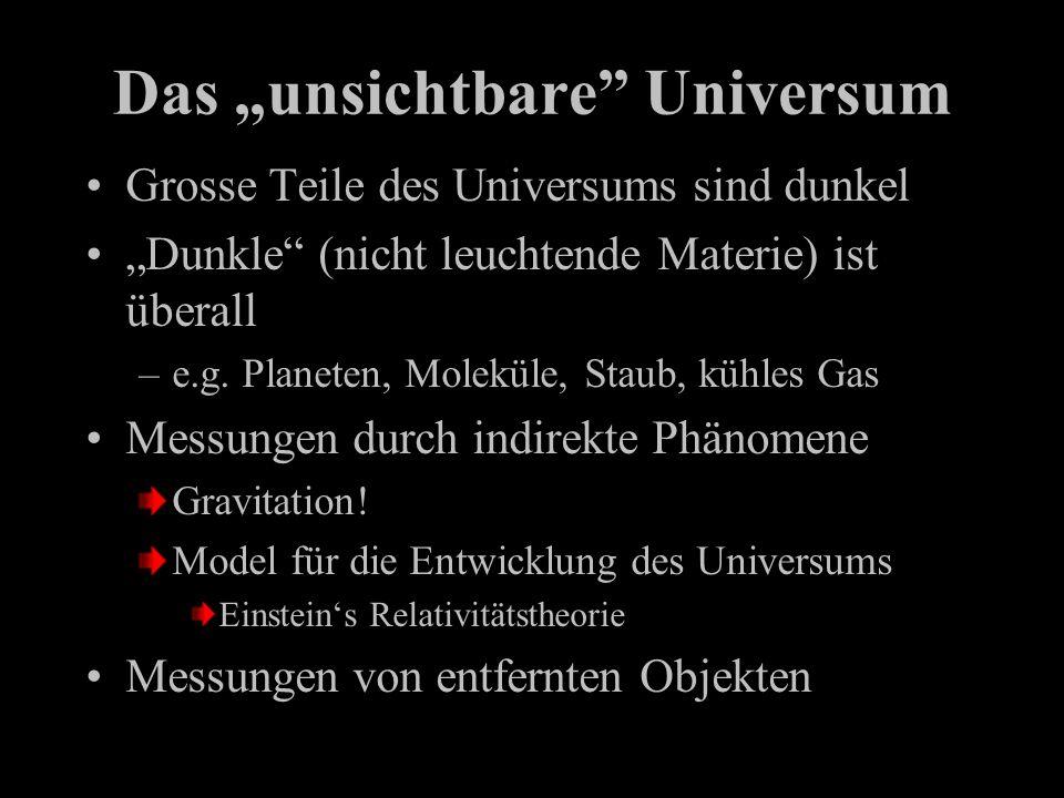 "Das ""unsichtbare Universum"