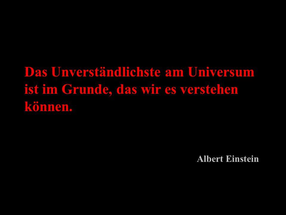 Das Unverständlichste am Universum ist im Grunde, das wir es verstehen können.