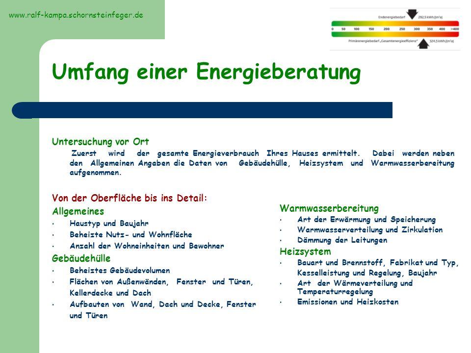 Umfang einer Energieberatung