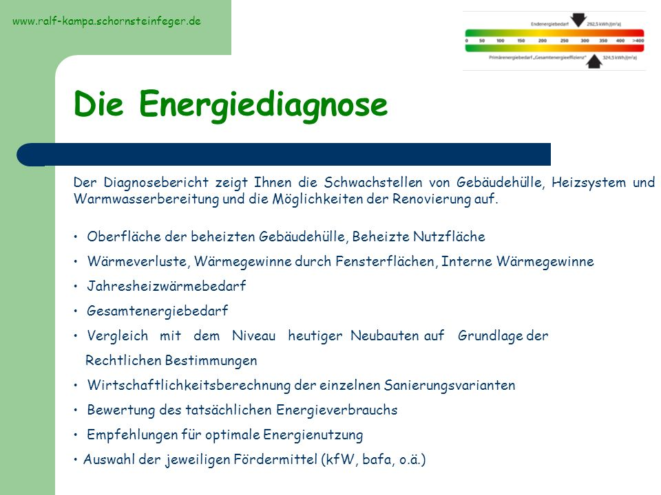 www.ralf-kampa.schornsteinfeger.de Die Energiediagnose.