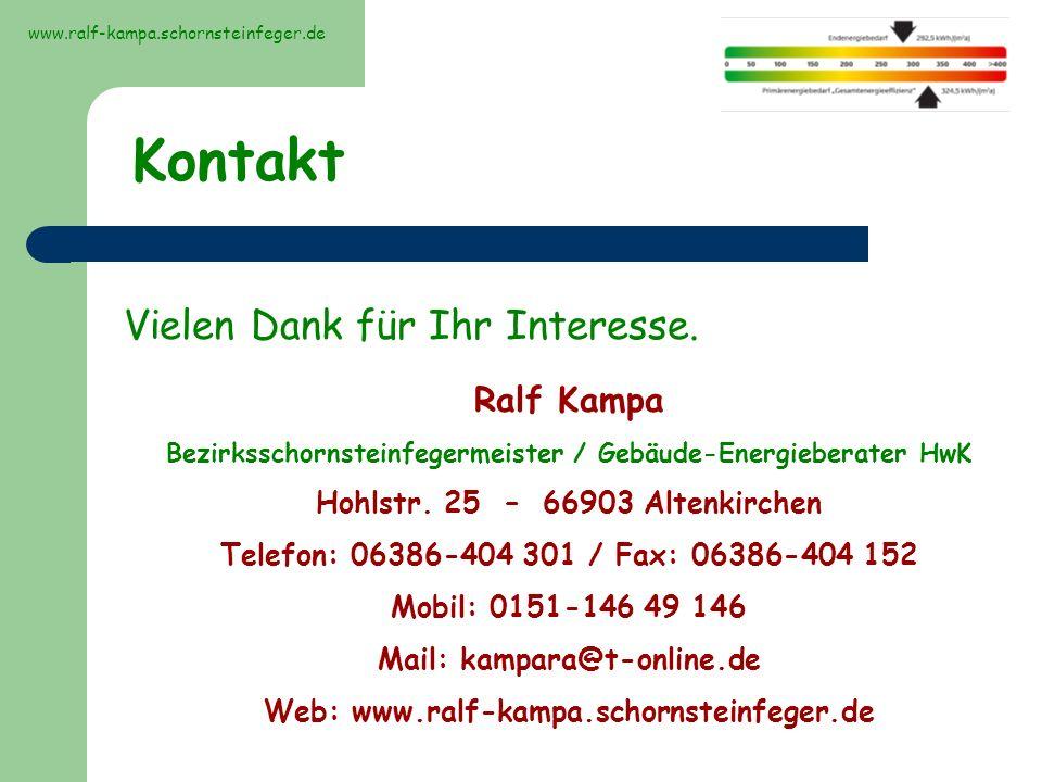 Kontakt Vielen Dank für Ihr Interesse. Ralf Kampa