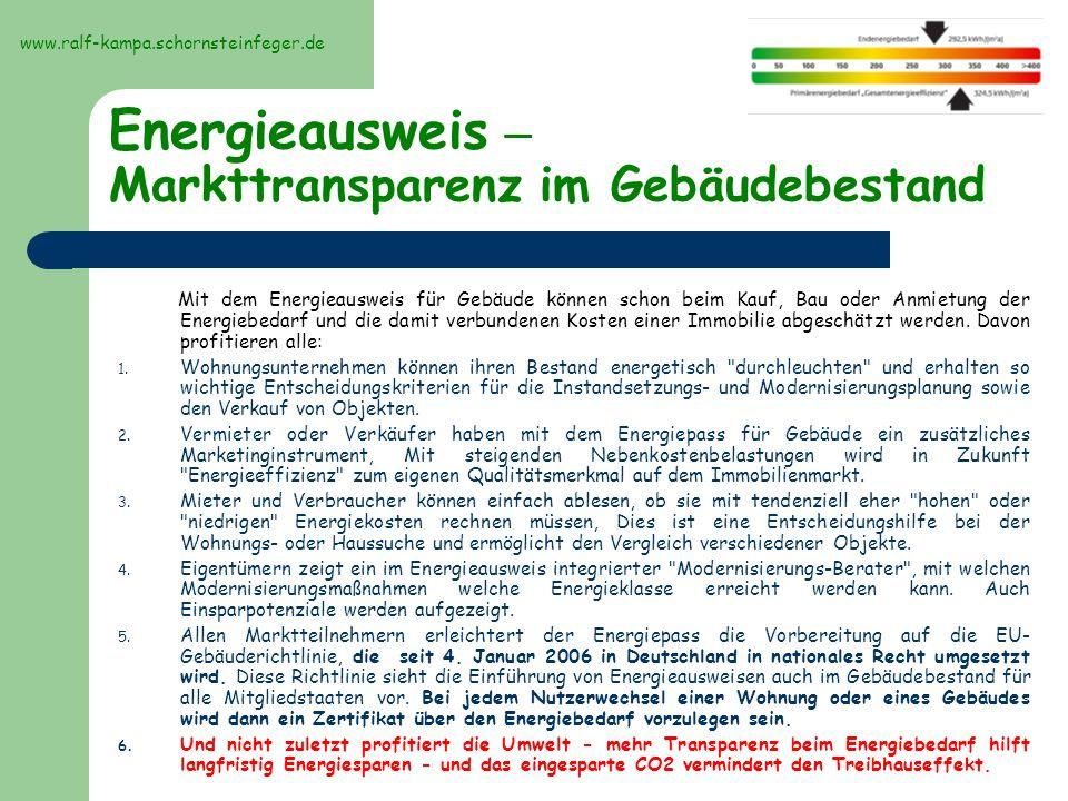 Energieausweis – Markttransparenz im Gebäudebestand