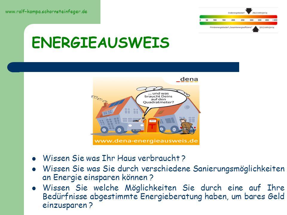ENERGIEAUSWEIS Wissen Sie was Ihr Haus verbraucht