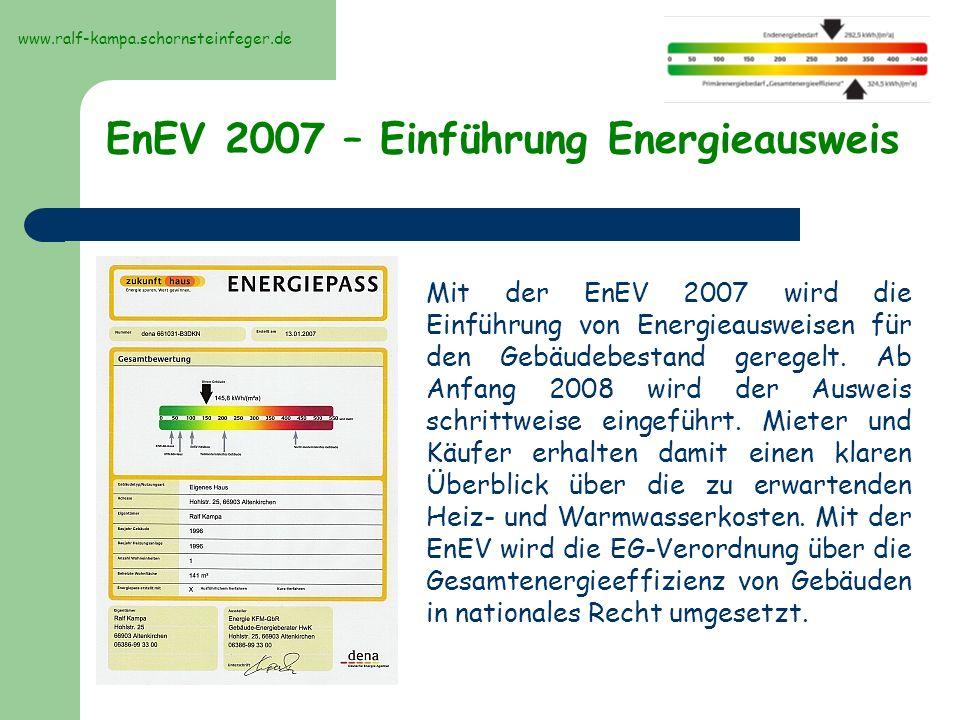 EnEV 2007 – Einführung Energieausweis