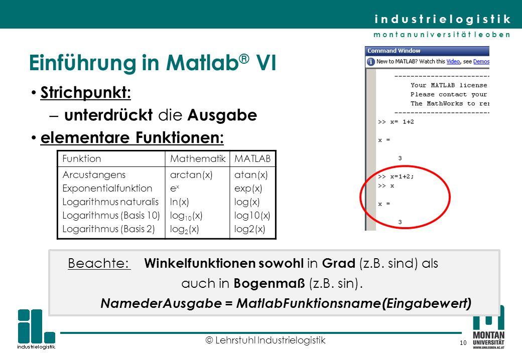 Einführung in Matlab® VI