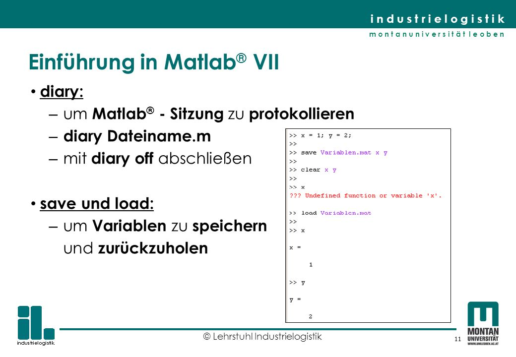 Einführung in Matlab® VII